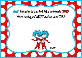 007 Archaicawful Free Online 1st Birthday Invitation Card Maker For Twin High Def 320