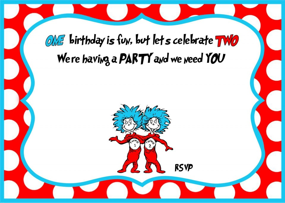 007 Archaicawful Free Online 1st Birthday Invitation Card Maker For Twin High Def 960