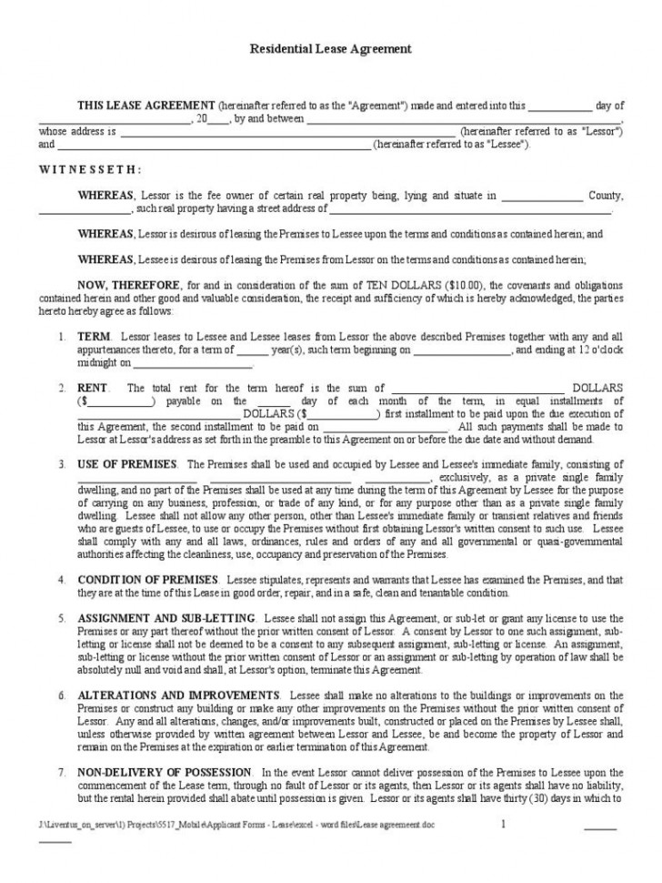 007 Archaicawful Rental Agreement Template Free Highest Clarity  Tenancy Form Download Word728