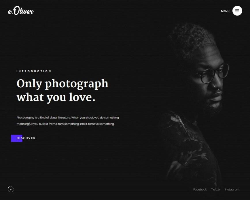 007 Archaicawful Website Template For Photographer Idea  Photographers Single Page Photography Best