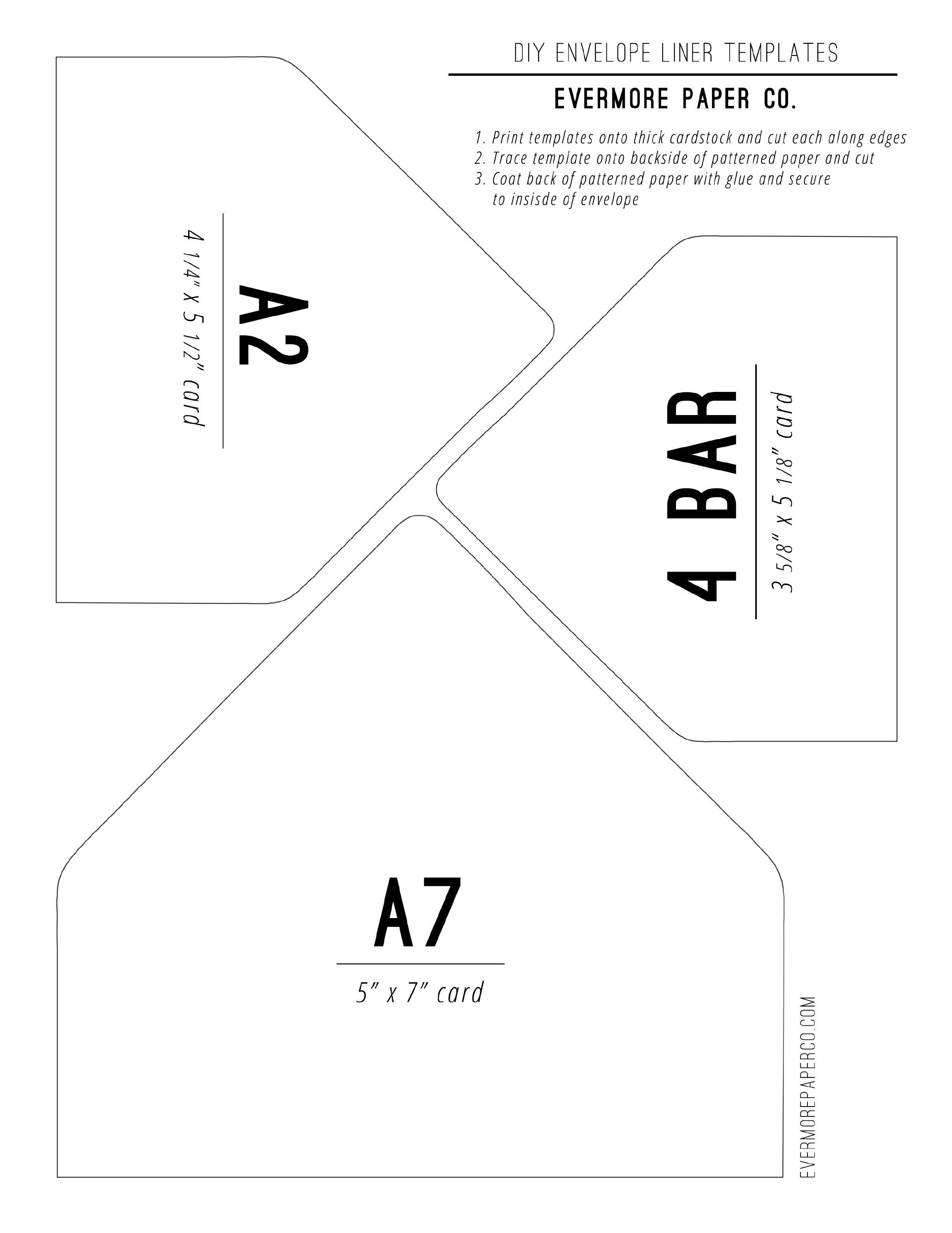 007 Astounding A7 Envelope Liner Template Image  Printable Illustrator FreeFull