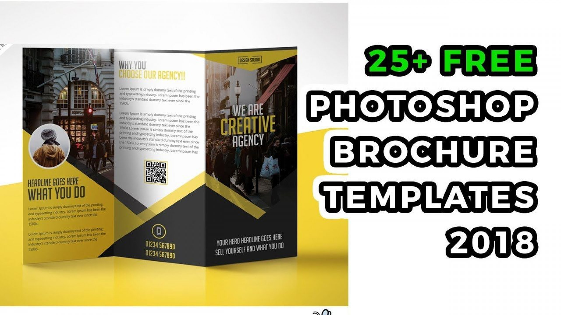 007 Astounding Brochure Design Template Free Download Psd Picture 1920