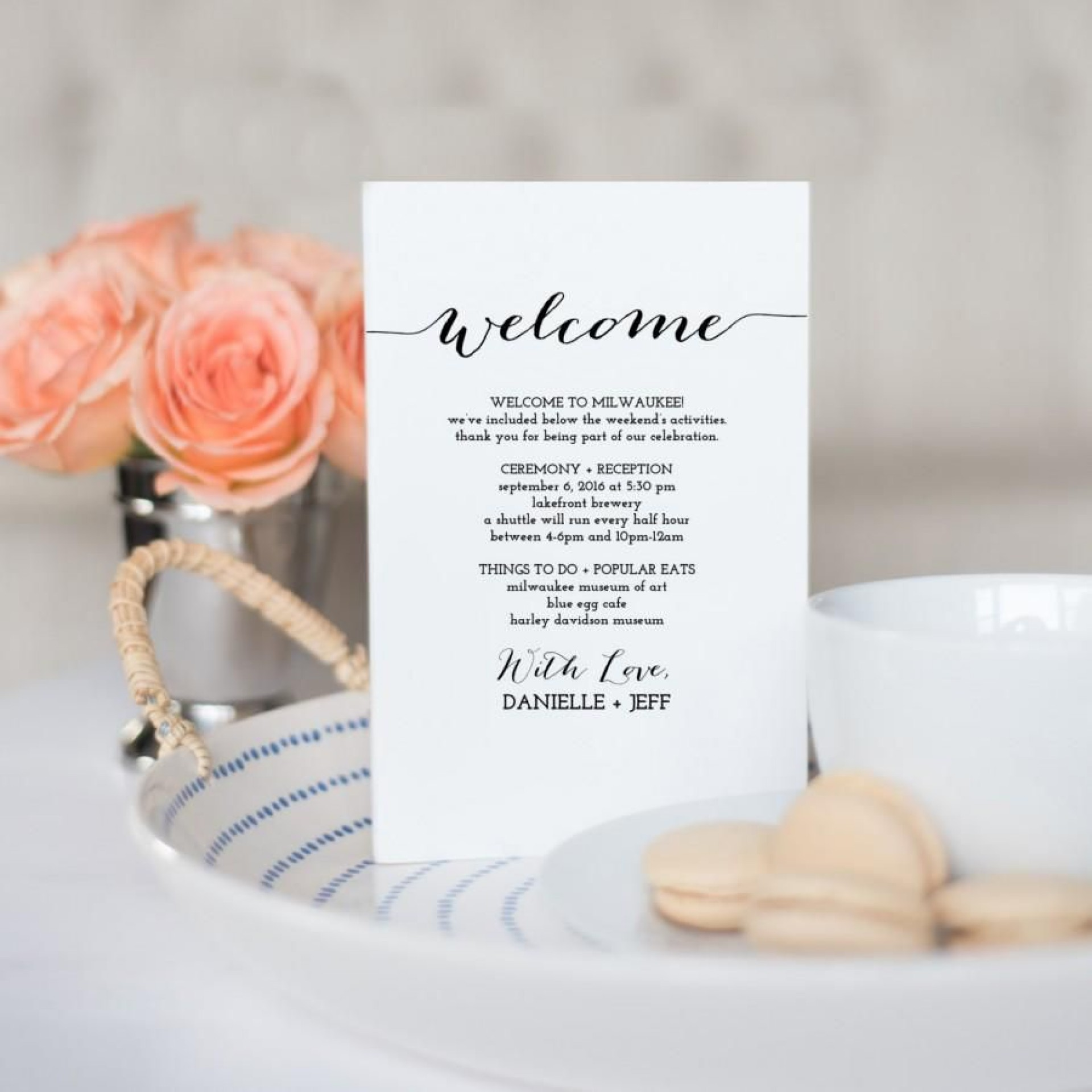 007 Astounding Destination Wedding Welcome Letter Template Highest Clarity  And Itinerary1920