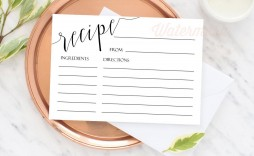 007 Astounding Editable Recipe Card Template Picture  Free For Microsoft Word 4x6 Page