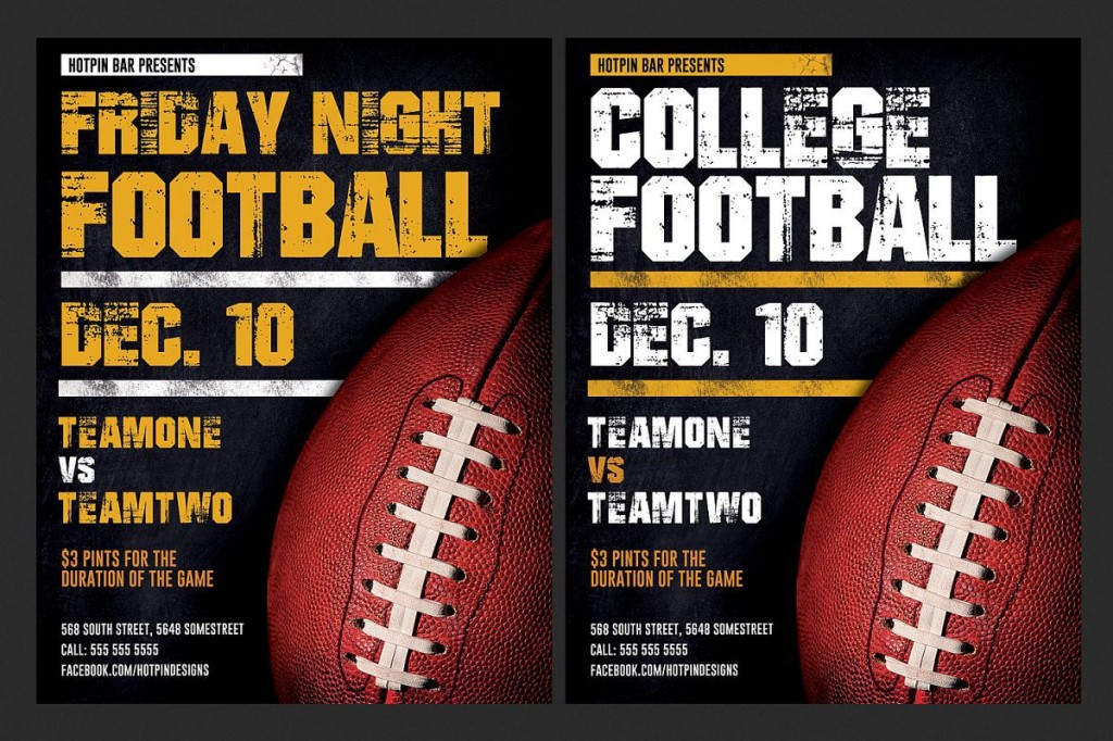 007 Astounding Football Flyer Template Free Design  Download Flag PartyLarge