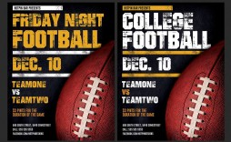 007 Astounding Football Flyer Template Free Design  Download Flag Party