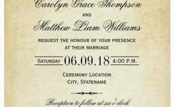 007 Astounding Formal Wedding Invitation Template Free Design