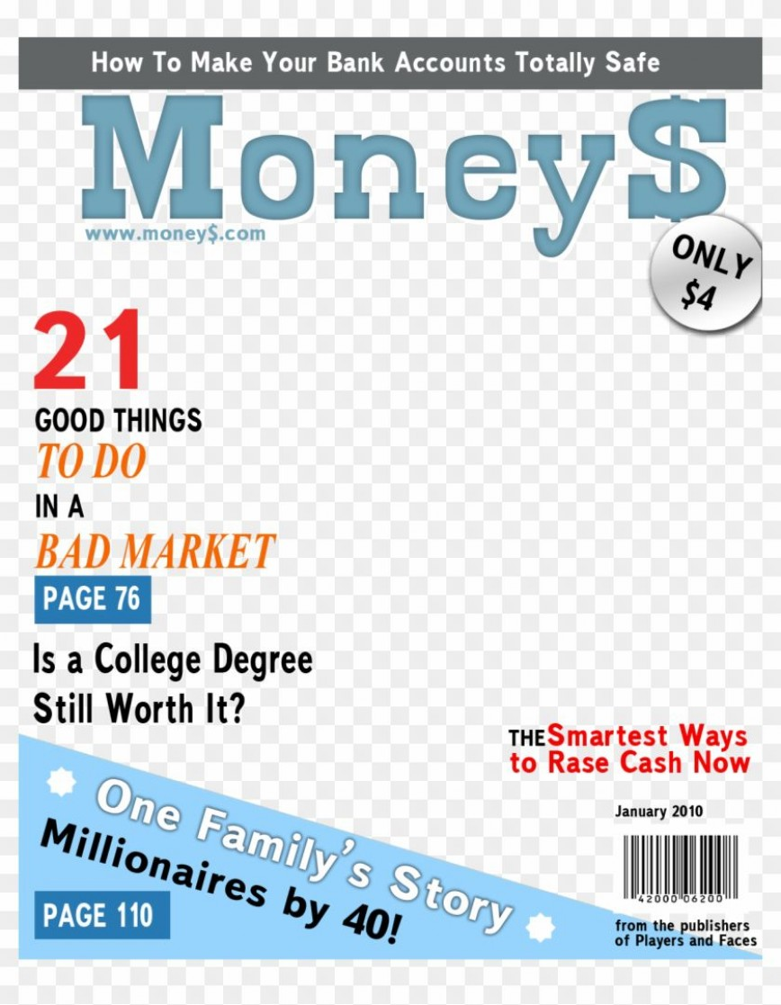 007 Astounding Free Fake Magazine Cover Template High Resolution  Time