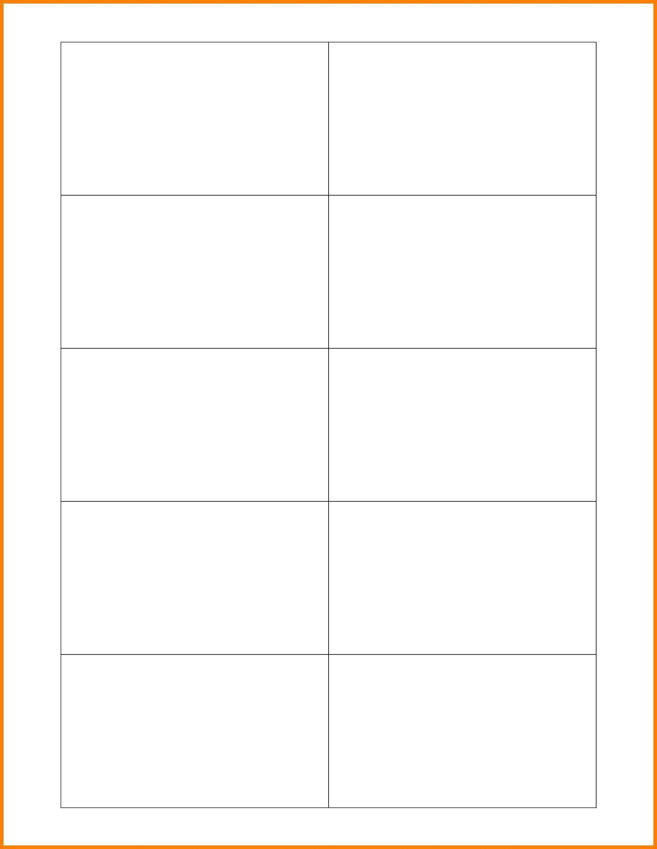007 Astounding Free Printable Blank Busines Card Template For Word Example Full
