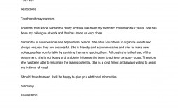 007 Astounding Free Reference Letter Template For Friend Example