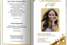 007 Astounding Funeral Program Template Free Example  Printable Design