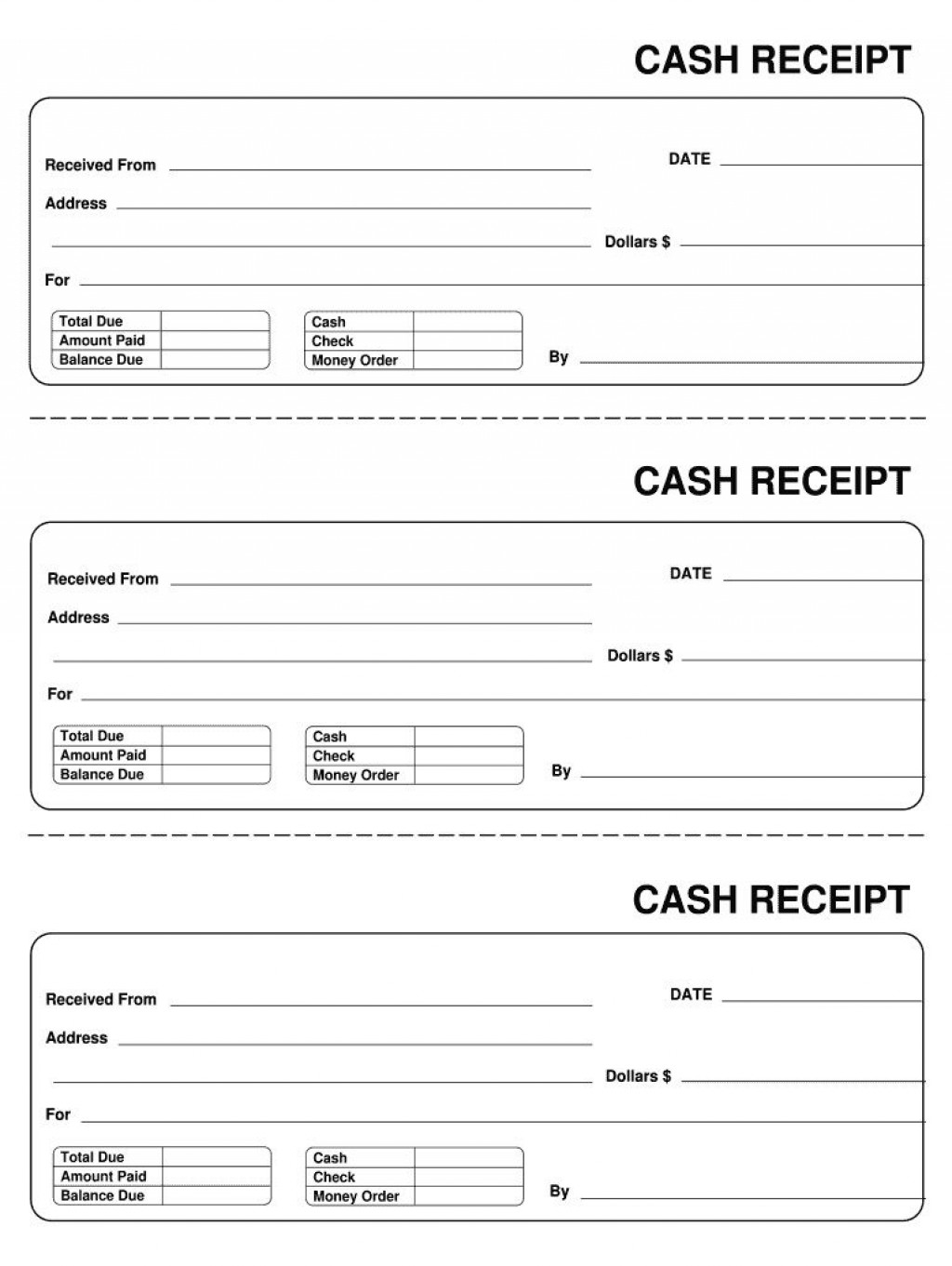 007 Astounding Invoice Template Pdf Fillable Photo  Cash Receipt CommercialLarge