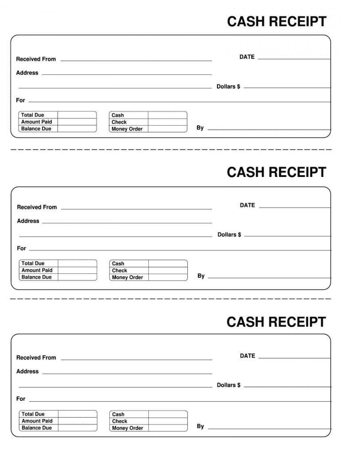 007 Astounding Invoice Template Pdf Fillable Photo  Free Cash Receipt Commercial1400