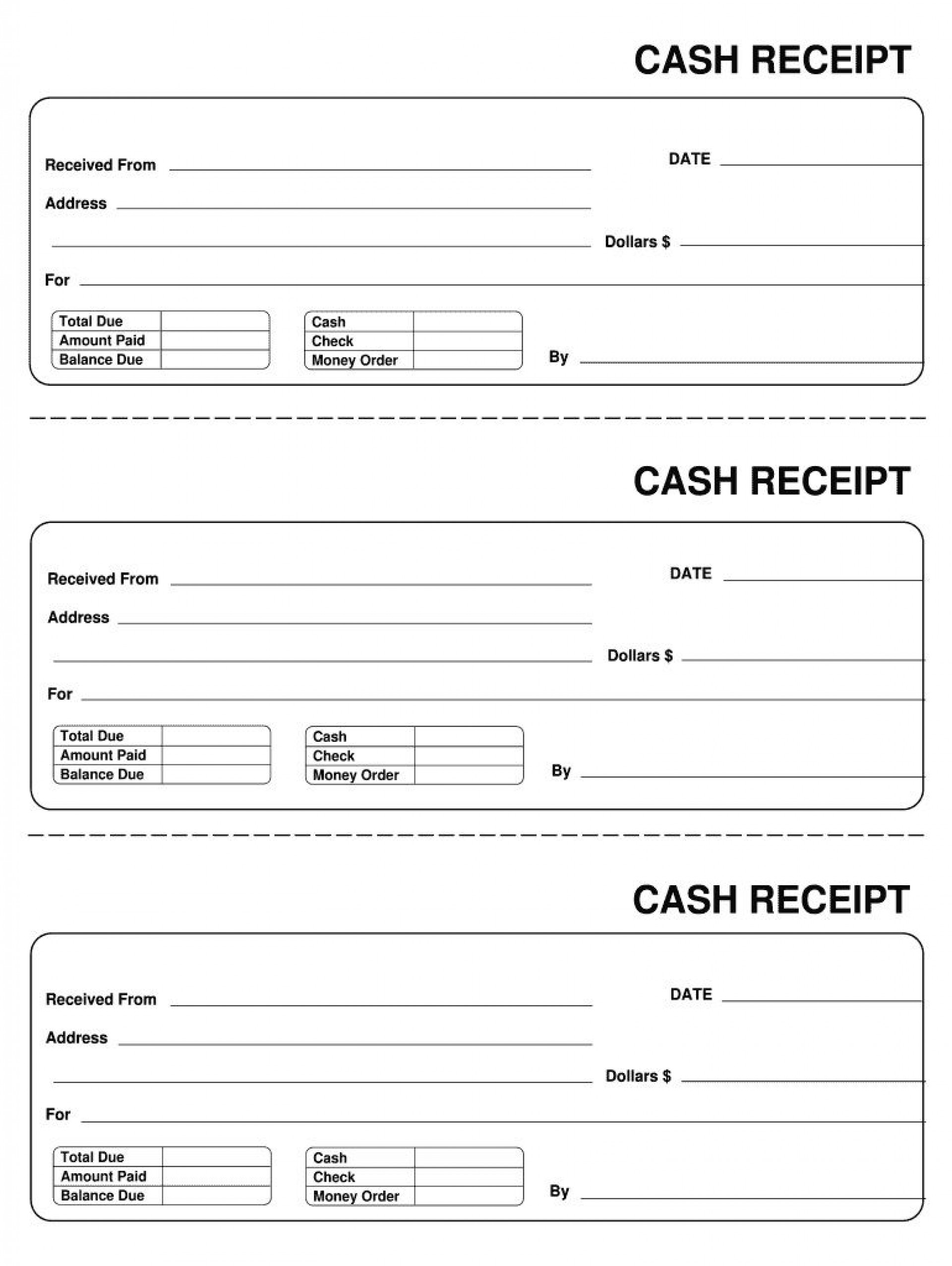 007 Astounding Invoice Template Pdf Fillable Photo  Free Cash Receipt Commercial1920