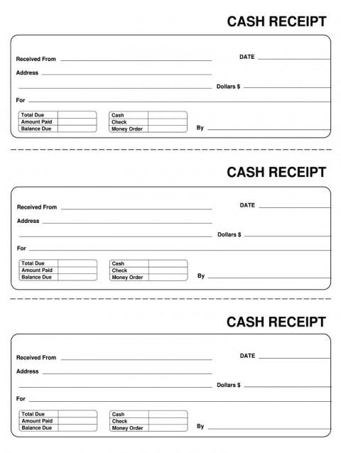 007 Astounding Invoice Template Pdf Fillable Photo  Free Cash Receipt Commercial480