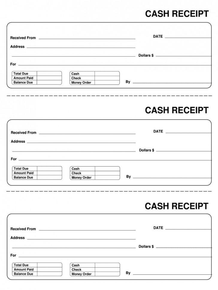 007 Astounding Invoice Template Pdf Fillable Photo  Free Cash Receipt Commercial728