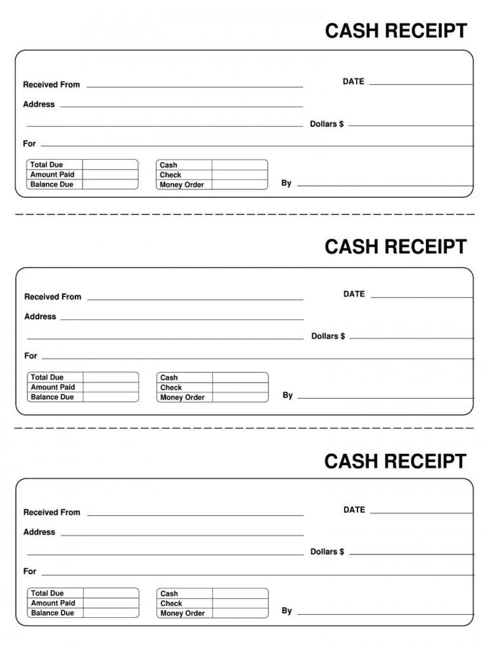 007 Astounding Invoice Template Pdf Fillable Photo  Free Cash Receipt Commercial960
