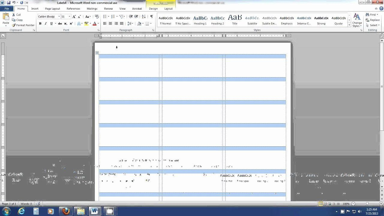 007 Astounding Label Template In Word 2013 Highest Clarity  Cd How To Create AFull