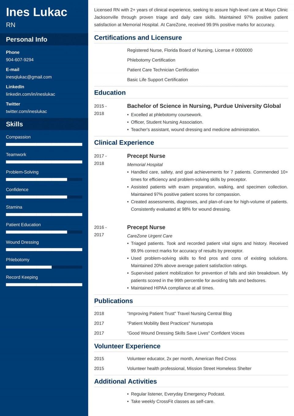 007 Astounding Nursing Student Resume Template Example  Free Word960