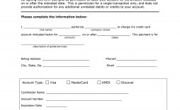 007 Astounding One Time Credit Card Payment Authorization Form Template Example