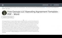 007 Astounding Operation Agreement Llc Template High Definition  Operating Pdf New York