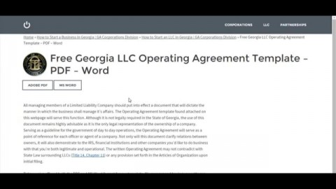 007 Astounding Operation Agreement Llc Template High Definition  Operating Florida Indiana Single Member California480