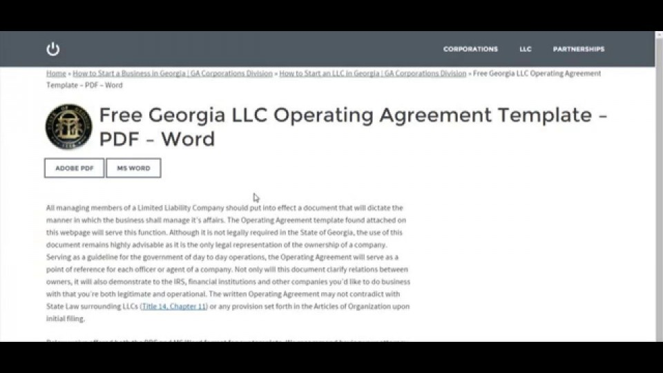 007 Astounding Operation Agreement Llc Template High Definition  Operating Florida Indiana Single Member California960