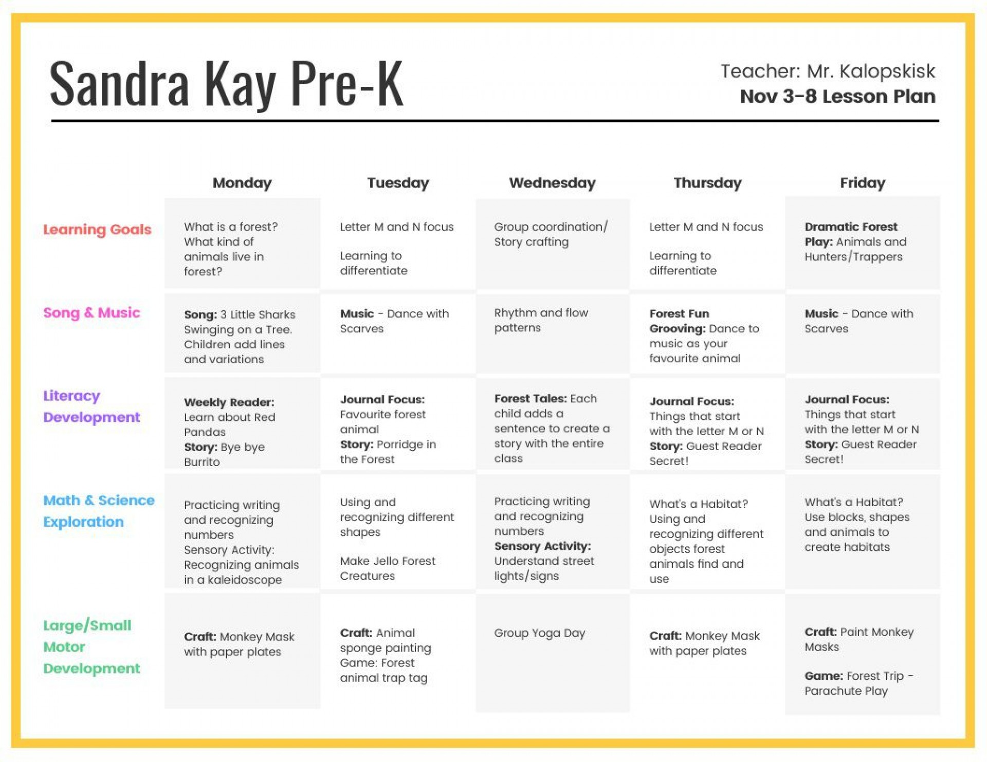 007 Astounding Preschool Weekly Lesson Plan Template High Resolution  Editable Pdf Word1920