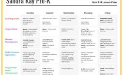 007 Astounding Preschool Weekly Lesson Plan Template High Resolution  Editable Pdf Word