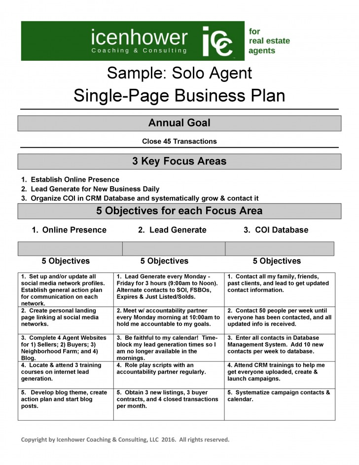 007 Astounding Real Estate Busines Plan Template Image  Example Free Investor728