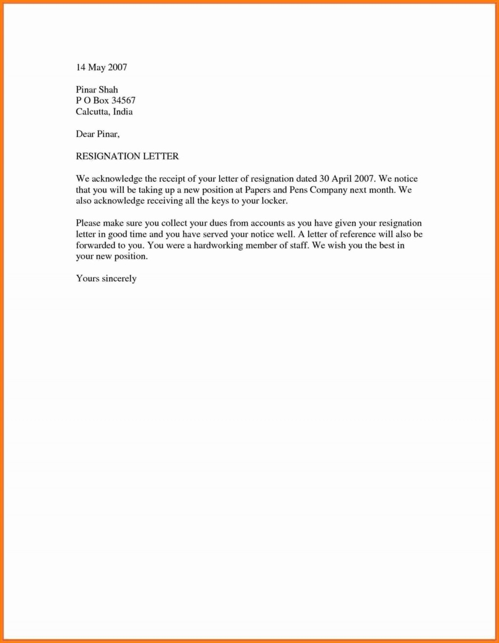 007 Astounding Resignation Letter Template Word Highest Clarity  Malaysia UkLarge