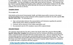 007 Astounding Site Specific Safety Plan Checklist Example Concept
