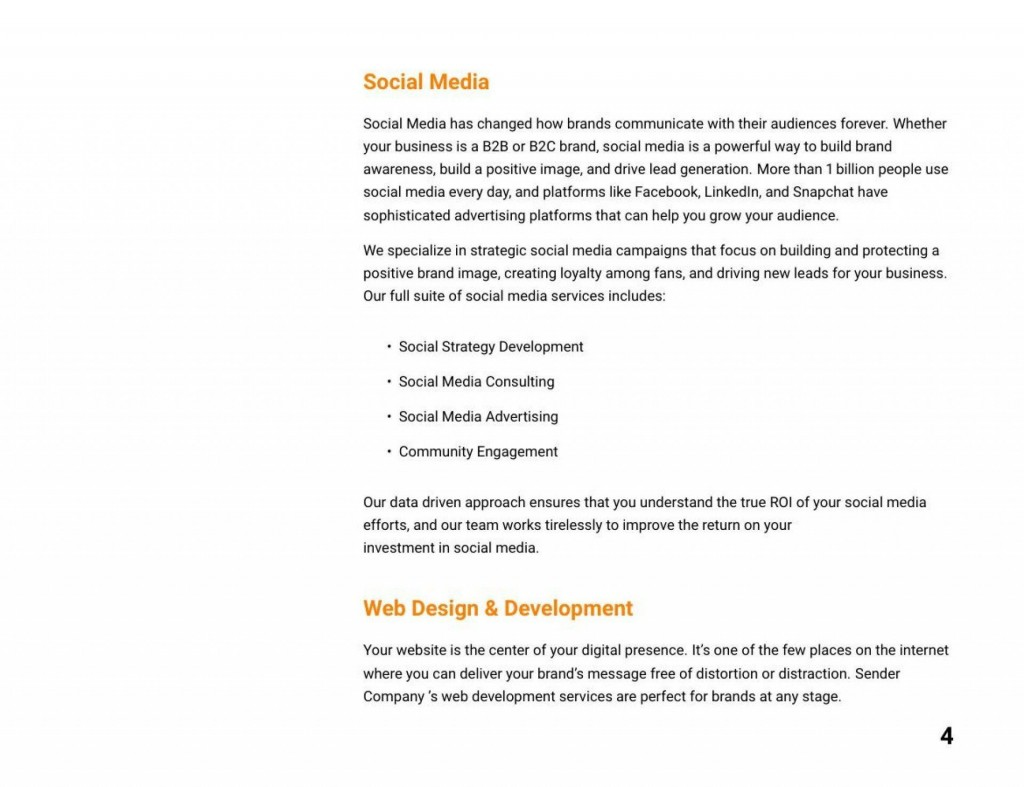 007 Astounding Social Media Proposal Format Concept  Marketing Example PlanLarge