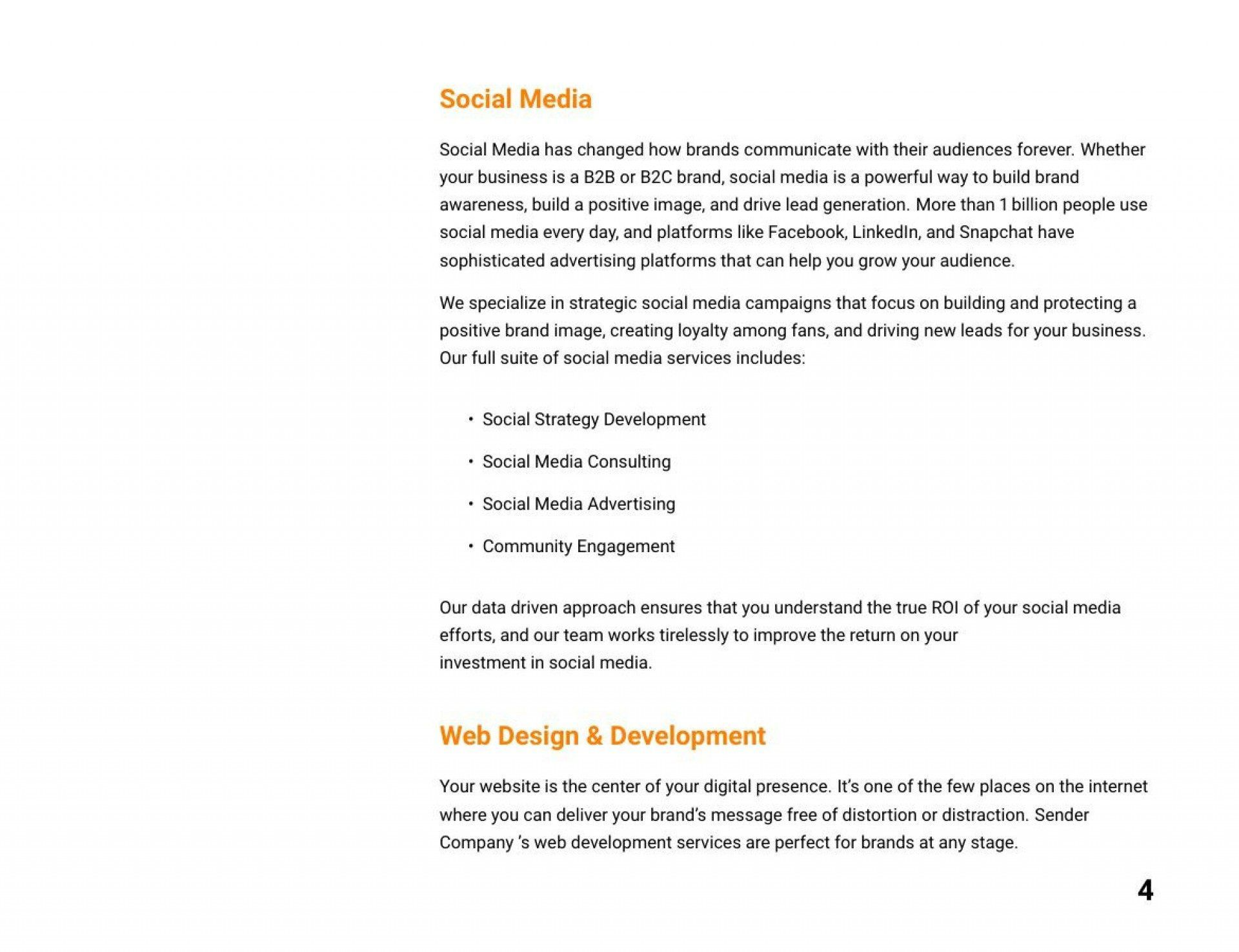 007 Astounding Social Media Proposal Format Concept  Marketing Example PlanFull