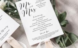 007 Astounding Wedding Order Of Service Template Free Inspiration  Uk Church Download