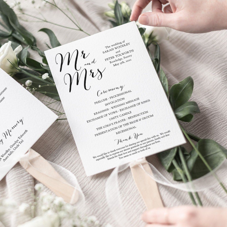 007 Astounding Wedding Order Of Service Template Free Inspiration  Front Cover Download Church960