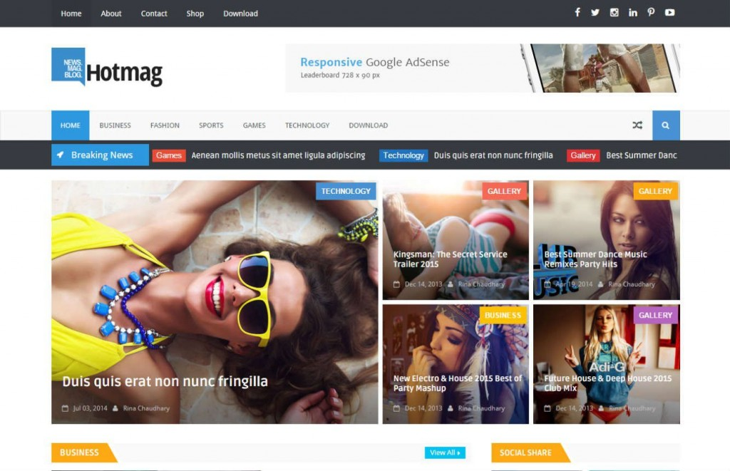 007 Awesome Best Free Responsive Blogger Template 2015 Inspiration Large