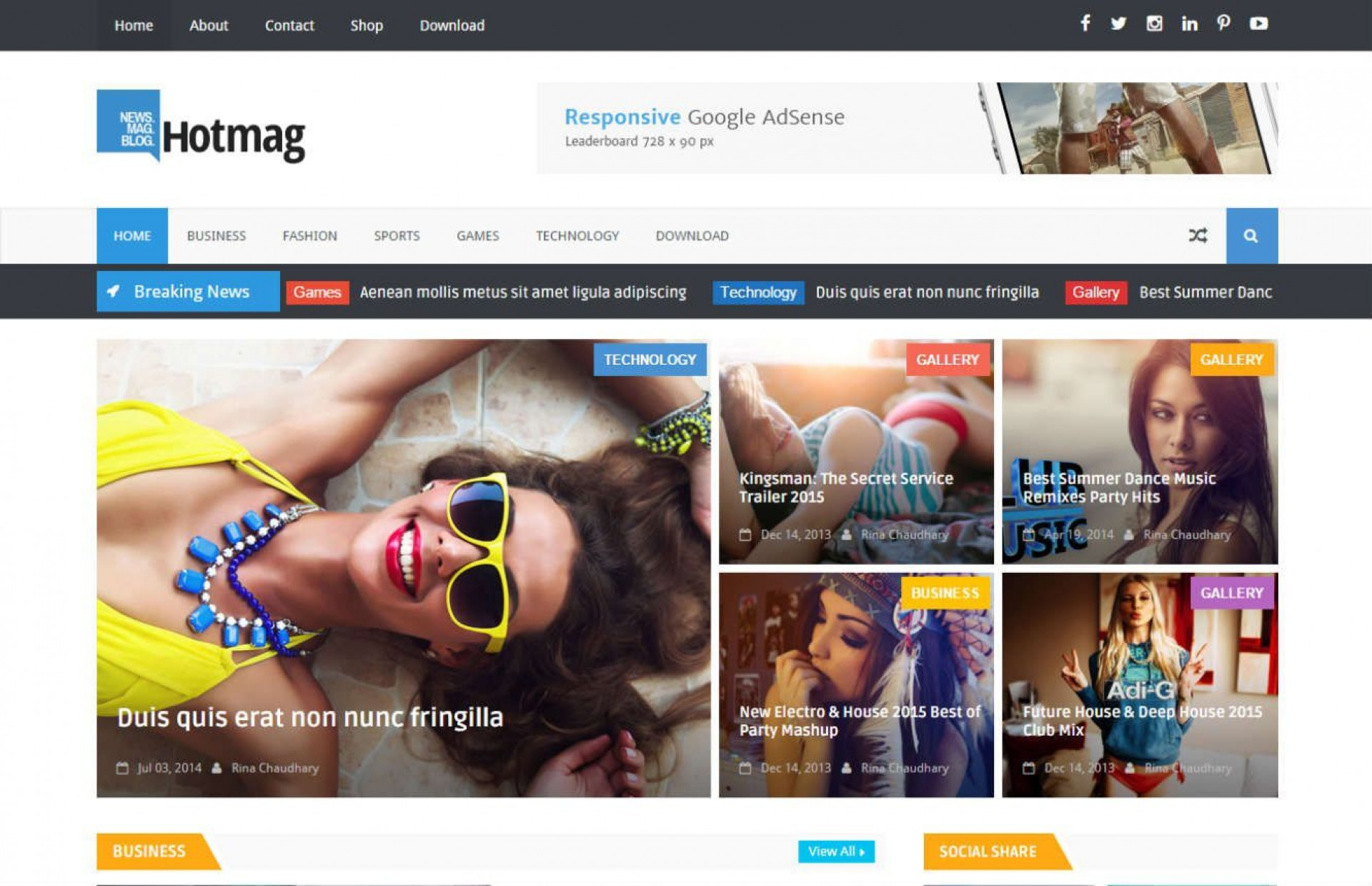 007 Awesome Best Free Responsive Blogger Template 2015 Inspiration 1920