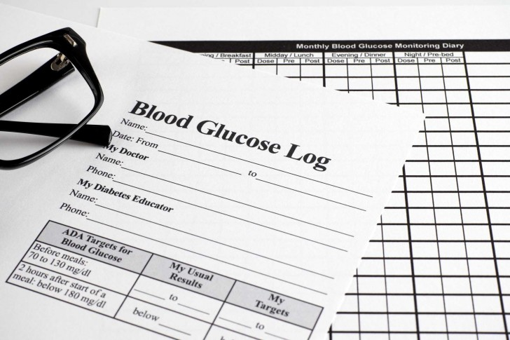 007 Awesome Blood Glucose Log Template Highest Quality  Sugar Excel Book728