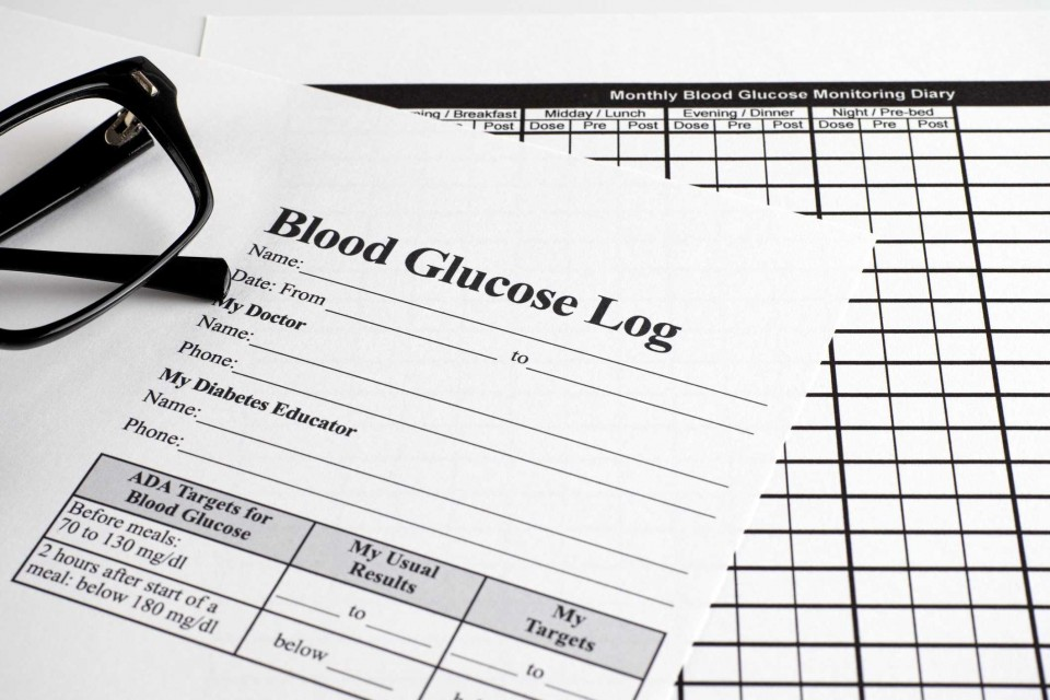 007 Awesome Blood Glucose Log Template Highest Quality  Sugar Excel Book960