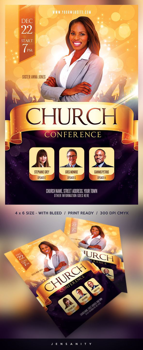 007 Awesome Church Flyer Template Free Download Idea  Event PsdFull