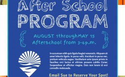 007 Awesome Free After School Flyer Template Picture  Templates