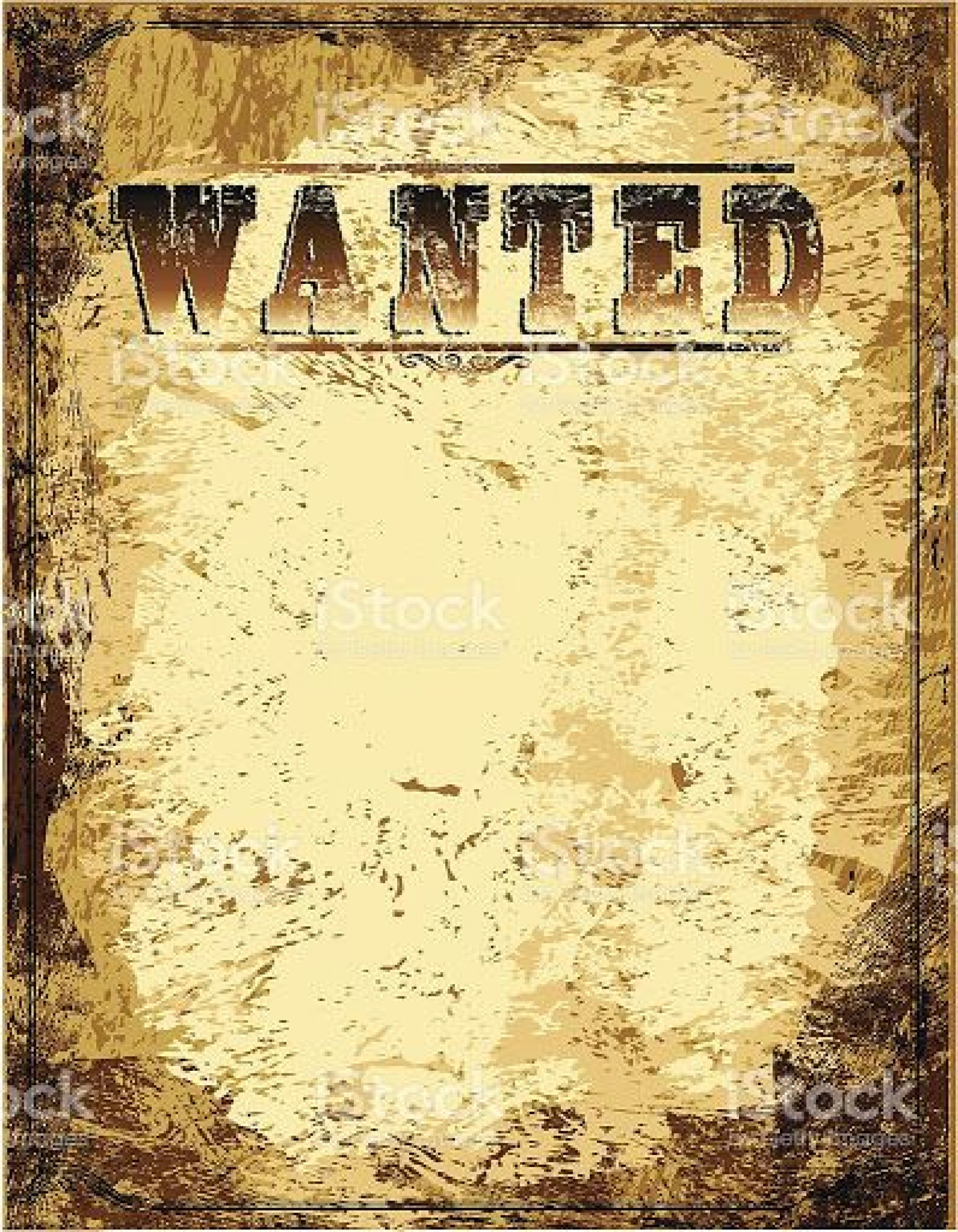 007 Awesome Free Wanted Poster Template Concept  For Microsoft Word Download Student1920