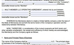 007 Awesome Llc Partnership Agreement Template High Resolution  Operating Free