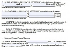 007 Awesome Llc Partnership Agreement Template High Resolution  Free Operating