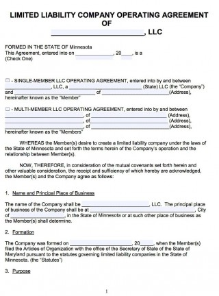 007 Awesome Llc Partnership Agreement Template High Resolution  Free Operating320
