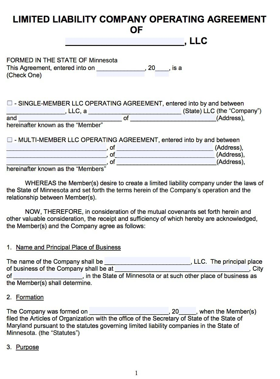 007 Awesome Llc Partnership Agreement Template High Resolution  Free OperatingFull