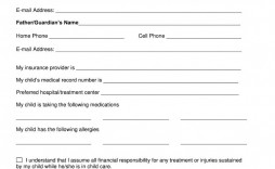 007 Awesome Medical Release Form Template Example  Free Consent Uk For Minor