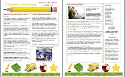 007 Awesome Microsoft Publisher Newsletter Template Image  School Free Download