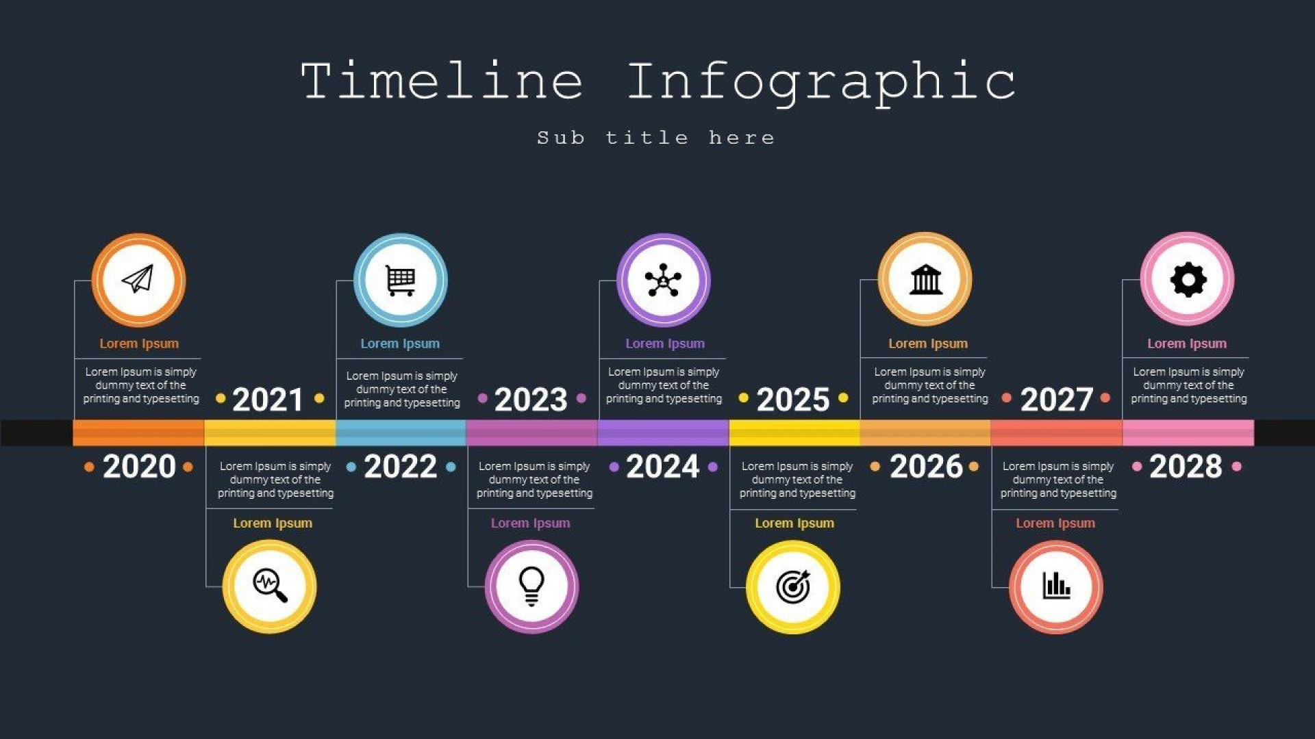 007 Awesome Powerpoint Timeline Template Free Download Example  Project History1920